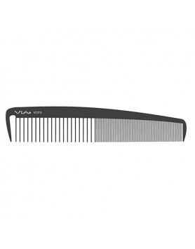 VIA Wide Classic Cutting/Styling Comb- Black